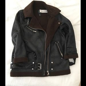 Urban outfitters oversized faux leather jacket